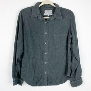 Columbia Gray Button Down Shirt Large
